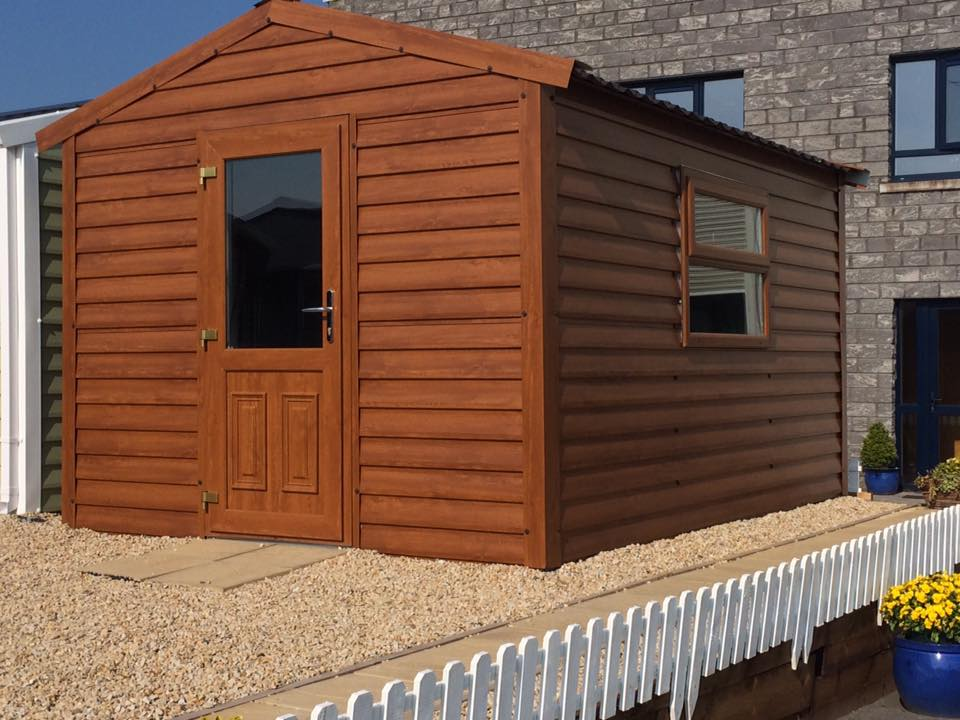 Wood Effect Steel Sheds